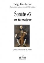 Boccherini Luigi - Sonate N°3 En Fa Majeur Pour Violoncelle Et Piano
