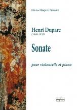 Duparc Henri - Sonate Pour Violoncelle Et Piano