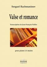 Rachmaninov Serguei - Valse Et Romance Pour Piano A 4 Mains
