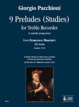 Pacchioni Giorgio - 9 Preludes (studies) In Melodic Progression - Treble Recorder