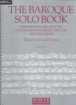 The Baroque Solo Book - Flute A Bec Alto Solo