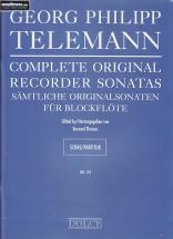 Telemann G. Ph. - Complete Sonatas - Flute A Bec Et Bc