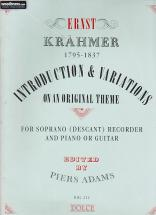 Kraehmer E. - Introduction And Variations Op. 32 - Flb Soprano Et Piano (guitare)