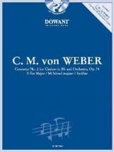 Weber C.m. Von - Concerto N°2 Op.74 E Flat Major + Cd - Clarinette, Piano