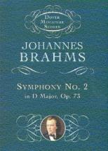 Johannes Brahms Symphony No.2 In D Major Op.73 ( Miniature Score - Orchestra
