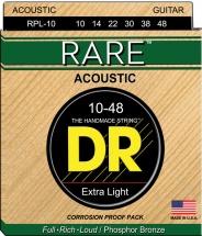 Dr Rpl-10  Rare Phosphore Bronze Acoustique 10-48 Lite