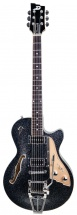 Duesenberg Starplayer Tv Black Sparkle + Etui