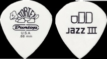 Dunlop Jazz Iii Blanc 478r88 0.88mm