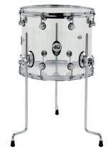 Dw Drum Workshop Tom Sur Pieds Design Acrylique Clear