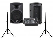 Eagletone Eps8 Live 2x100w + Paire Stands St35b