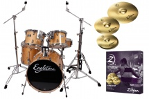Eagletone Quest - Naturelle + Pack Cymbales Zildjian Zbtp390-f