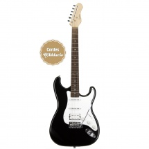 Guitare Electrique Eagletone St100-ssh - Noire Stratocaster Jd-st30h Sun State  Bk