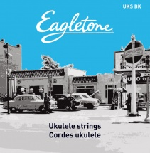 Eagletone Uks Bk - Jeu De Cordes Ukulele Soprano Nylon Noir