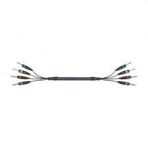 Yellow Cable Mu01 4 Jacks Mono Male / 4 Jacks Mono Male 3m