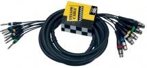 Yellow Cable Cables Audio Octopaires 8 Jacks Mono Male/8 Xlr Femelle 5m