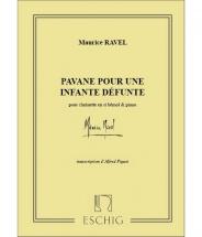 Ravel M. - Pavane Pour Une Infante Defunte - Clarinette Et Piano