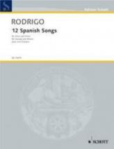 Rodrigo J. - 12 Spanish Songs - Voix Et Piano