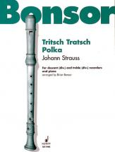 Strauss (sohn) Johann - Tritsch-tratsch Polka Op 214 - 4 Recorders (ssaa) And Piano