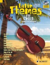 Latin Themes For Cello + Cd - Cello