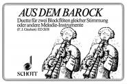 Aus Dem Barock - 2 Recorders (ss/at) Or 2 Melodic Instruments