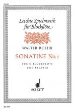 Roehr Walter - Sonatine - Soprano Recorder  And Piano