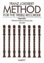 Giesbert Franz Julius - Method For The Treble Recorder - Treble Recorder