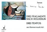 Henze H.w. - Drei Fragmente Nach Hoelderlin / Drei Tentos - Guitar Solo And Vocal