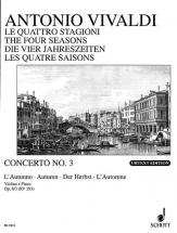 Vivaldi Antonio - The Four Seasons Op 8/3 Rv 293 / Pv 257 - Violin, Strings And Basso Continuo