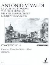 Vivaldi Antonio - The Four Seasons Op 8/4 Rv 297 / Pv 442 - Violin, Strings And Basso Continuo