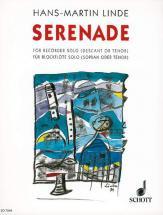 Linde H.m. - Serenade - Soprano Or Tenor Recorder