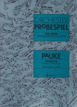 Orchester-probespiel - Percussions