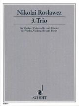 Roslawez Nikolai - Trio N°3 - Violon, Violoncelle and Piano