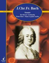 Bach Johann Christoph Friedrich - Sonata A Major - Piano  4-haendig