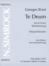 Bizet Georges - Te Deum - Soprano, Tenor, Mixed Choir (satb) And Orchestra