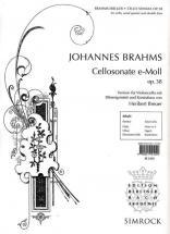 Brahms J. - Cellosonate E Moll Op.38