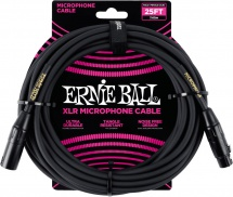 Ernie Ball Cables Microphone Classic Xlr Mâle/xlr Fem 7,62m Noir