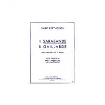 Berthomieu Marc - Sarabande - Violoncelle Et Piano