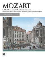 Mozart Wolfgang Amadeus - Cadenzas - Piano Solo