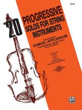 Applebaum Samuel - 20 Progress Solos For String Instruments - Violin