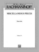 Rachmaninoff Misc Pieces 4 - Piano Solo