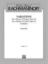 Rachmaninov Sergei - Variations 6 - Piano Solo
