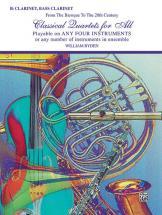 Classical Quartets For All - Clarinet Ensemble