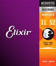 Elixir 11027 Nanoweb Custom Light 11 52