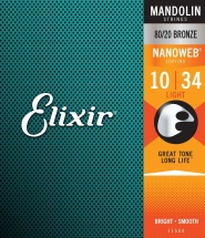 Elixir 11500 Nanoweb Mandoline .010 .014 .024 .034