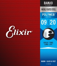 Elixir 11600 Polyweb Banjo .009 .010 .013 .020 .009