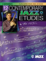 Mintzer Bob - 12 Contemporary Jazz Etudes + Cd - C Instruments With Piano