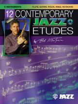 Mintzer Bob - 12 Contemporary Jazz Etudes + Cd - C Instruments With Piano
