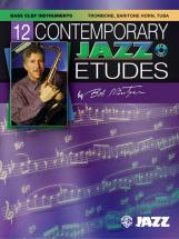 Mintzer Bob - 12 Contemporary Jazz Etudes + Cd - Trombone And Piano