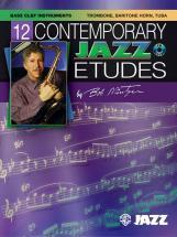 Mintzer Bob - 12 Contemporary Jazz Etudes + Cd - Trombone And Piano