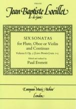 Loeillet J.b. - Six Sonatas Op.5 Vol.1 - Sonatas 1-3